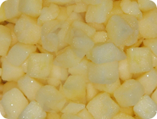 Diced apples from davisons quality foods